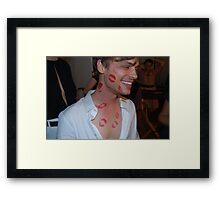 Matthew Gray Gubler Kisses Framed Print