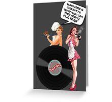 Sexy Pinup Girls Vape Ejuice Donuts  Greeting Card