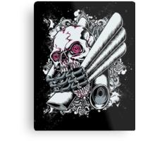 Moto Skull Metal Print