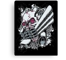 Moto Skull Canvas Print