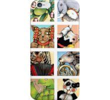 Animal Musicians Montage iPhone Case/Skin