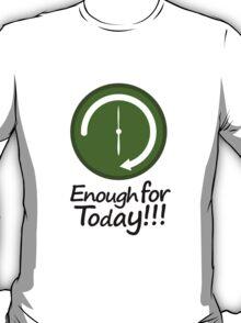 Work Schedule Concept Illustration T-Shirt