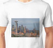 Seattle Skyline at Sunset Unisex T-Shirt