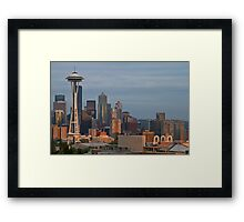 Seattle Skyline at Sunset Framed Print