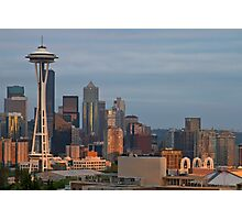 Seattle Skyline at Sunset Photographic Print