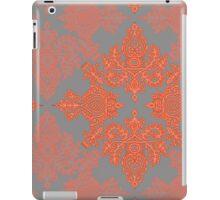 Burnt Orange, Coral & Grey doodle pattern iPad Case/Skin