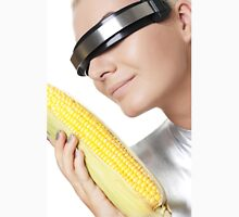 Cyber woman with corn Unisex T-Shirt