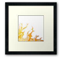 flame corner Framed Print