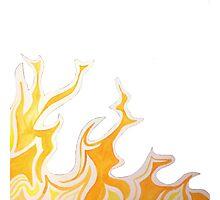 flame corner Photographic Print