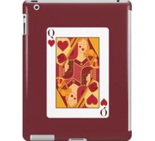 Queen of Hearts Playing Card iPad Case/Skin