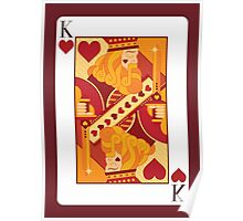 King of Hearts Playing Card Poster