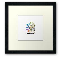 Arceus - Pokemon go !!!! Framed Print