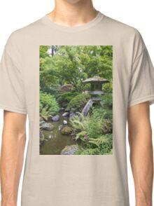 Stone Lantern at Japanese Garden Classic T-Shirt