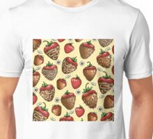 Chocolate Covered Strawberry Pattern Unisex T-Shirt