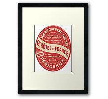 Hotel de France in Perigeux  Framed Print