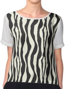 Look like a zebra Chiffon Top