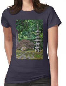 Japanese Stone Pagoda Womens Fitted T-Shirt