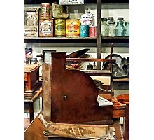 Wooden Cash Register in General Store Photographic Print
