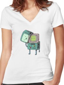 Gameboy Bmo Women's Fitted V-Neck T-Shirt