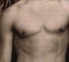 Young Channing Tatum Shirtless Sticker