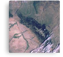 Bighorn National Forest Wyoming Satellite Image Canvas Print