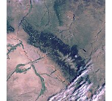 Bighorn National Forest Wyoming Satellite Image Photographic Print