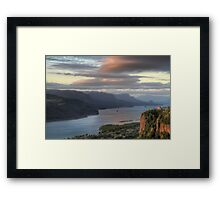 Sunset on Crown Point Framed Print