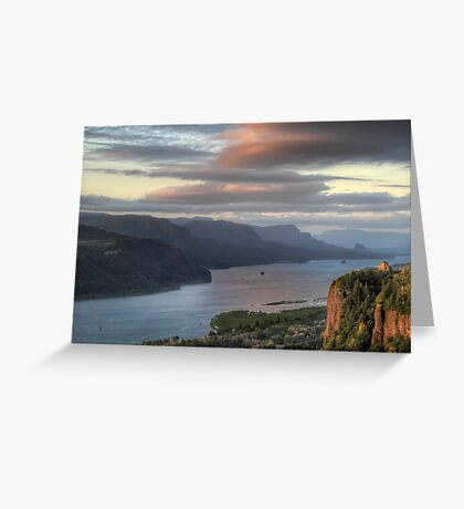 Sunset on Crown Point Greeting Card