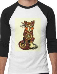 Tribal Fox  Men's Baseball ¾ T-Shirt