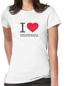 I ♥ INDONESIA Womens Fitted T-Shirt