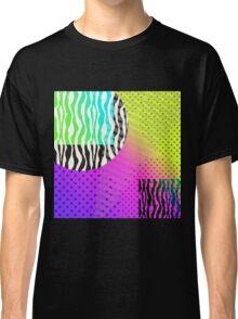 Full Moon in Zebra Geometric Psychedelic Eighties Inspired Design Classic T-Shirt