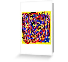 Color and color 11 Greeting Card