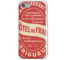 Hotel de France in Perigeux  iPhone Case/Skin