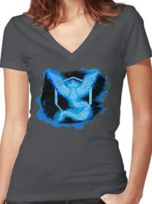 Go! Team Mystic! Women's Fitted V-Neck T-Shirt