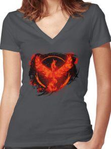 Go! Team Valor! Women's Fitted V-Neck T-Shirt