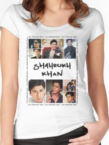Shahrukh Khan Tshirt Women's Fitted Scoop T-Shirt