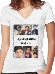 Shahrukh Khan Tshirt Women's Fitted V-Neck T-Shirt