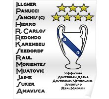 Real Madrid 1998 Champions League Winners Poster