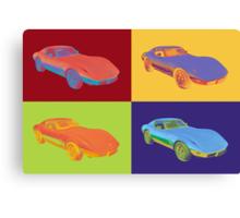 1975 Chevy Corvette Stingray Sports Car Pop Art. Canvas Print