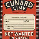Cunard Line vintage luggage label by paulgrand