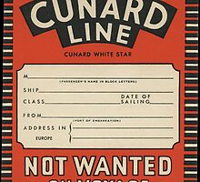 Cunard Line vintage luggage label by paulgrand