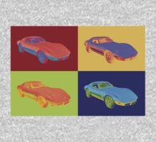 1975 Chevy Corvette Stingray Sports Car Pop Art. Kids Clothes