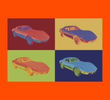 1975 Chevy Corvette Stingray Sports Car Pop Art. Kids Clothes