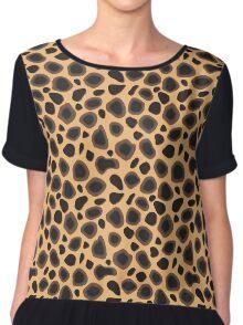 Cheetah Skin  Chiffon Top