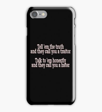 Honesty and Hate iPhone Case/Skin