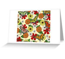 Floral Fantasy Pattern Greeting Card