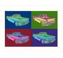 1957 Chevrolet Bel Air Convertible Pop Art Art Print
