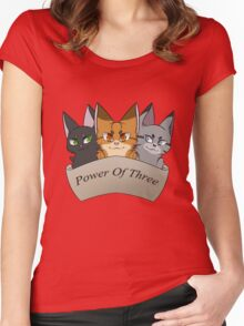 Power of Three Women's Fitted Scoop T-Shirt