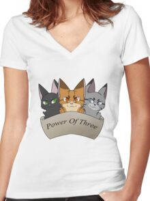 Power of Three Women's Fitted V-Neck T-Shirt