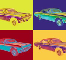 1965 Chevy Impala 327 Convertible Pop Art by KWJphotoart
